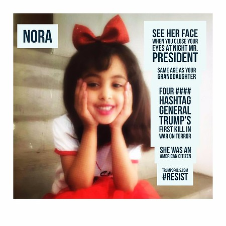 #Nora -- Four #### Hashtag General Trump's First Kill In War On Terror