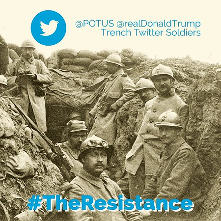 @POTUS @realDonaldTrump Trench Twitter Soldiers #TheResistance