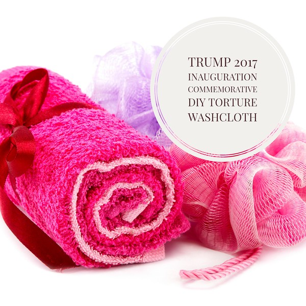 Trump 2017 DIY Torture Washcloth Set Of Two