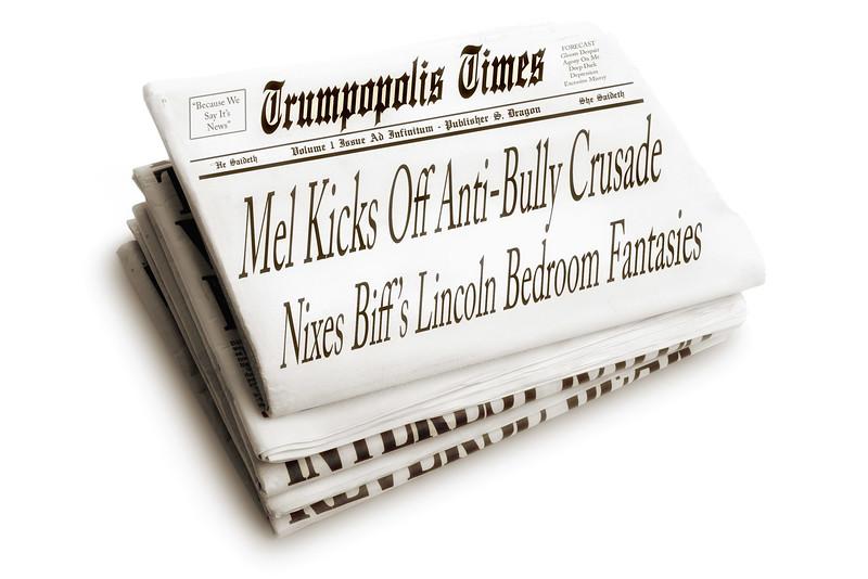 Mel Kicks Off Anti-Bully Crusade-Nixes Biff's Lincoln Bedroom Fantasies