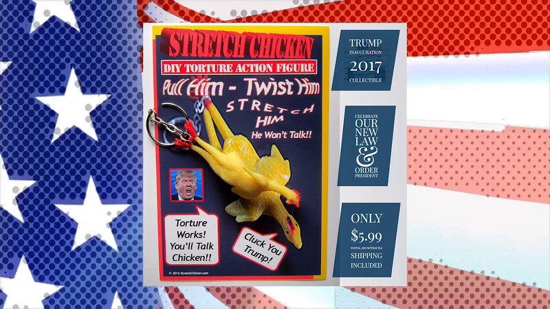 2017 Inauguration Commemorative Torture Chicken Keychain