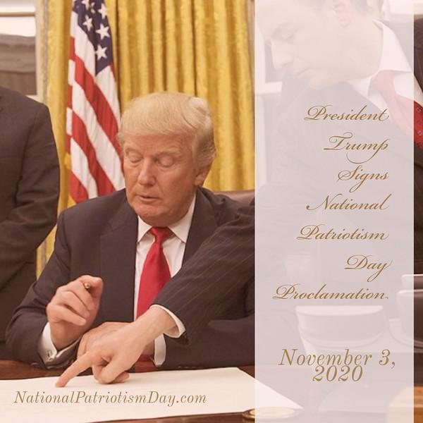 November 3, 2020 National Patriotism Day #NationalDayOfPatriotism