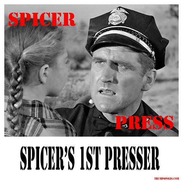 Spicer Talks Outta Sphincter At 1st Prez Presser