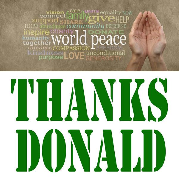 #ThanksDonald