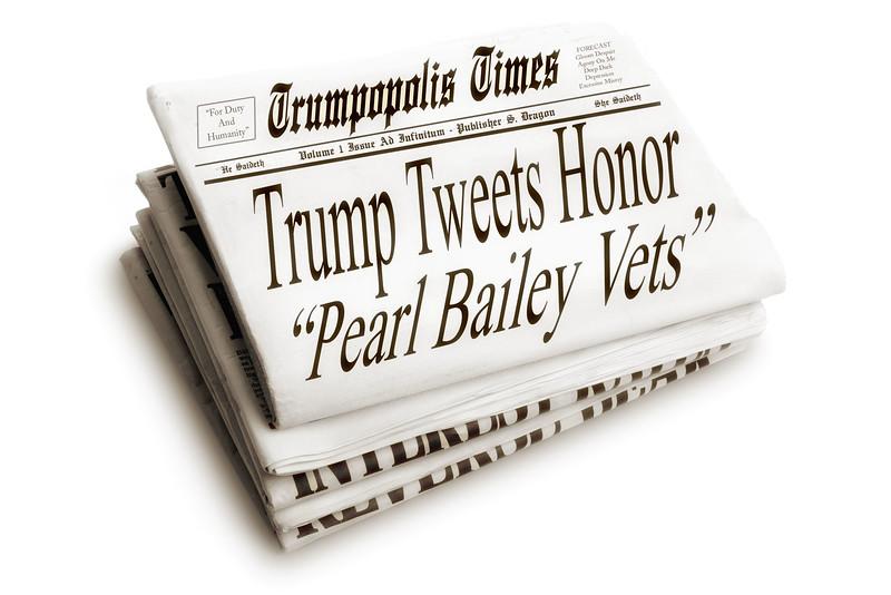 """TRUMPOPOLIS TIMES - Trump Tweets Honor """"Pearl Bailey Vets"""""""