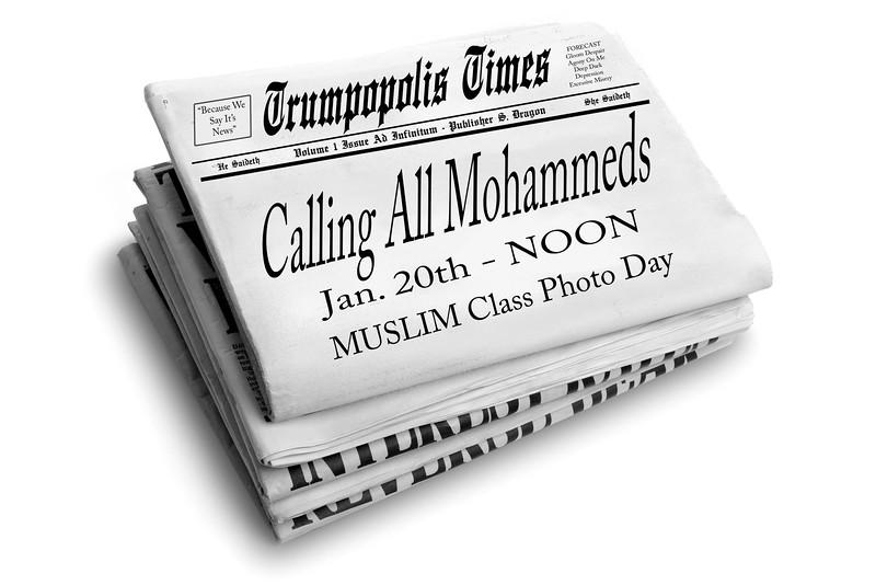 #TrumpopolisTimes #CallingAllMohammeds