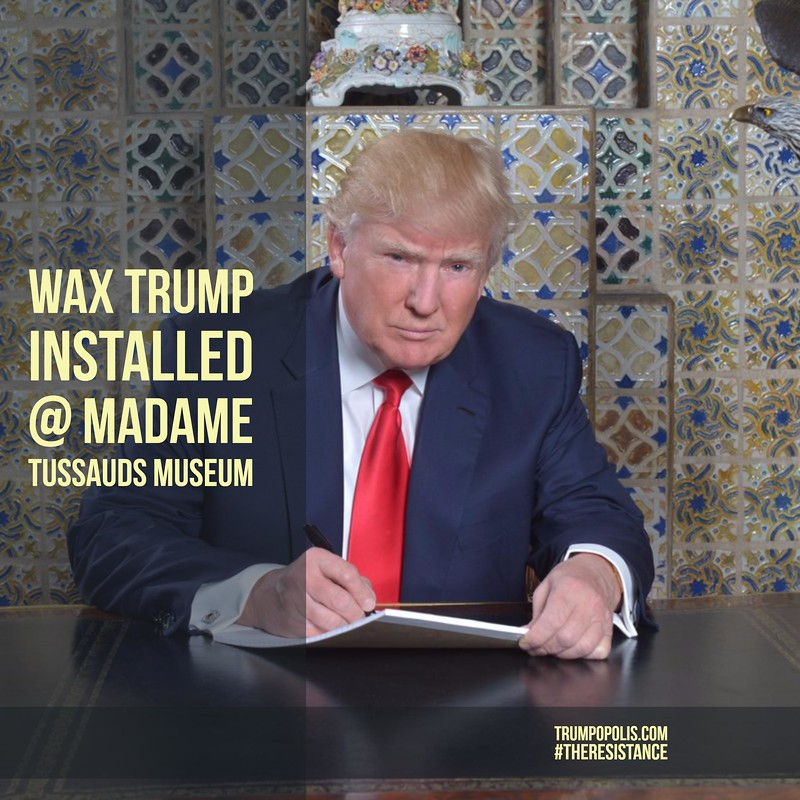 Wax Trump Installed @ Madame Tussaud's Museum #LooksAlmostReal