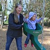 Lunenburg resident Hannah Anderson is raising money to buy AEDs for the police department. On Thursday morning we caught up to her at the new Wallis Park playground with her daughter Esme Anderson, 2, to talk about her plans on raising money to buy the equipment. SENTINEL & ENTERPRISE/JOHN LOVE