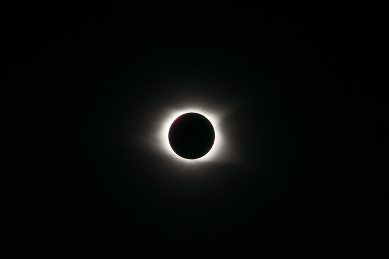 Total eclipse, wide field