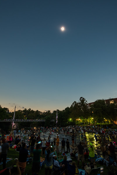Falls Park on the Reedy during totality