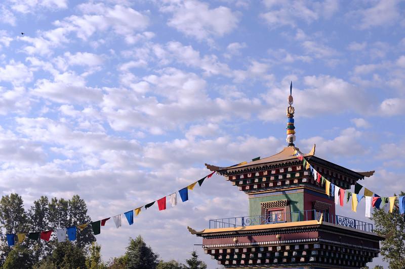 Dorje Trollo Stupa by Pedro Morales