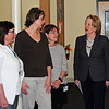 From left: Administrator Mary Hagary, Director of Administration and Technology Sharon Veasie and CFO Terri Counihan of Nashoba Nursing Service and Hospice and Rep. Niki Tsongas.