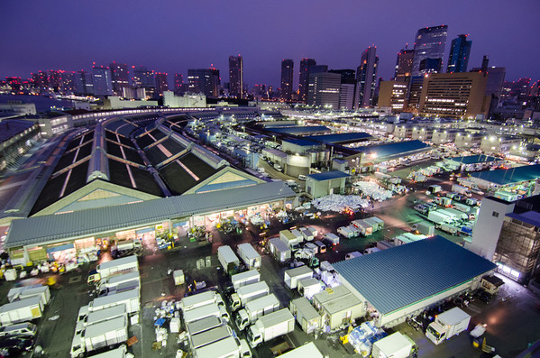 Tsujiki Fish Market, Tokyo from above. Photo courtesy Ever in Transit