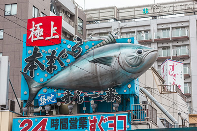 Signboard Tsukiji Outside Market