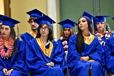 Tsurai High School graduated two dozen students Monday. (José Quezada — For the Times-Standard)