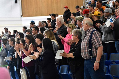 A full crowd congratulated the Tsurai High School graduating class for 2017.  (José Quezada — For the Times-Standard)