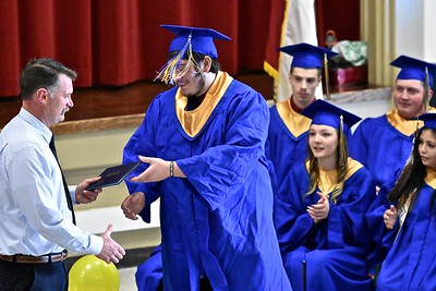 Tassels flying along with well wishes for this Tsurai High School graduate.  (José Quezada — For the Times-Standard)