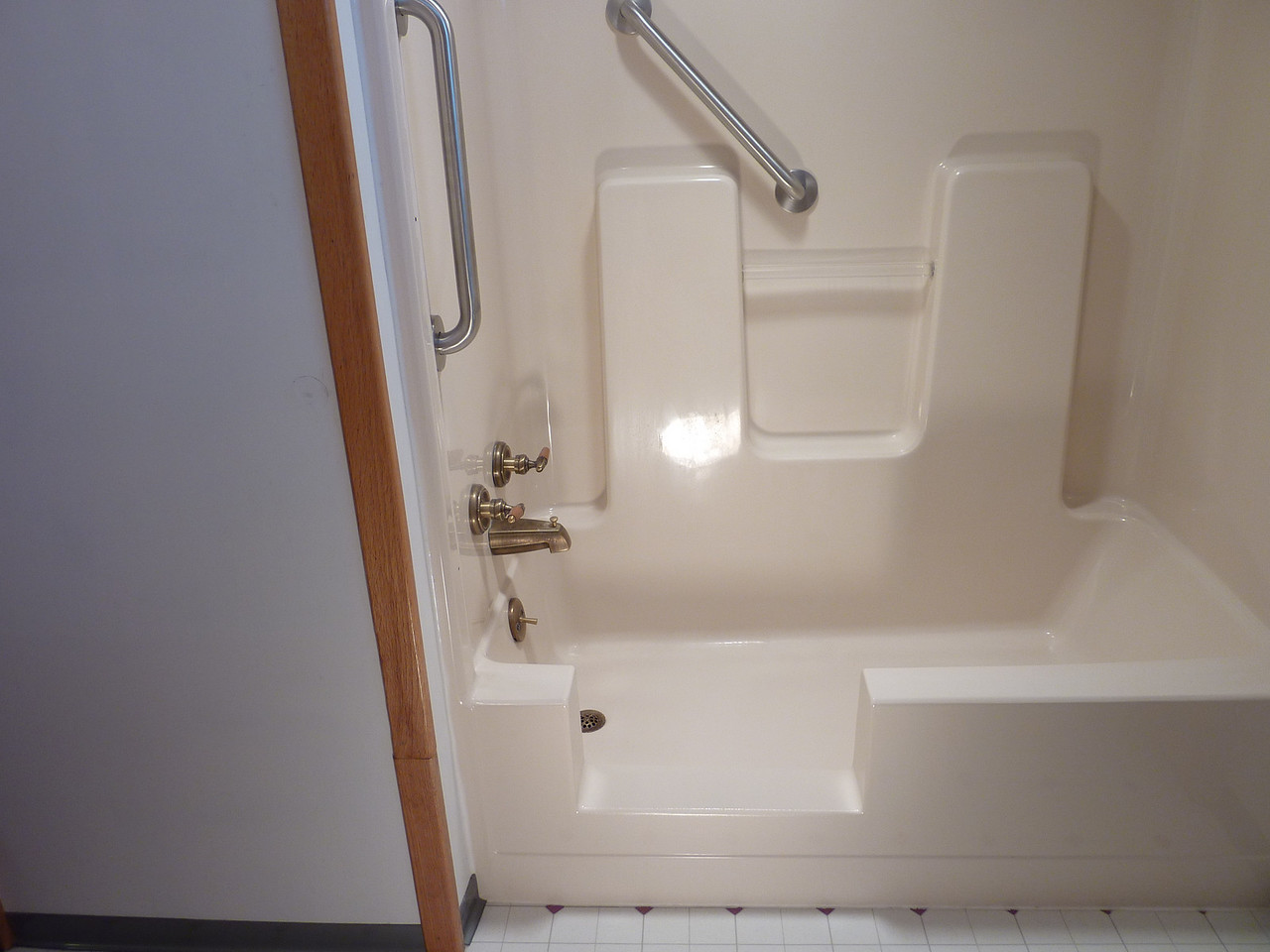 Job complete - Finished matched ... I put on the 2 grab bars to aid stability for the customer.