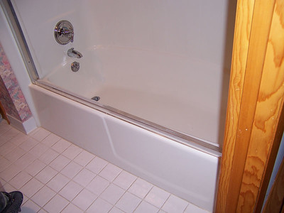 After some medical complications, the owner was no longer able to manage entry and exit from the tub in his home.  He was faced with the cost of total unit replacement until he found Sharer Fiberglass Repair.  I can convert your existing unit into one with a much lower dam; saving you a lot of money!