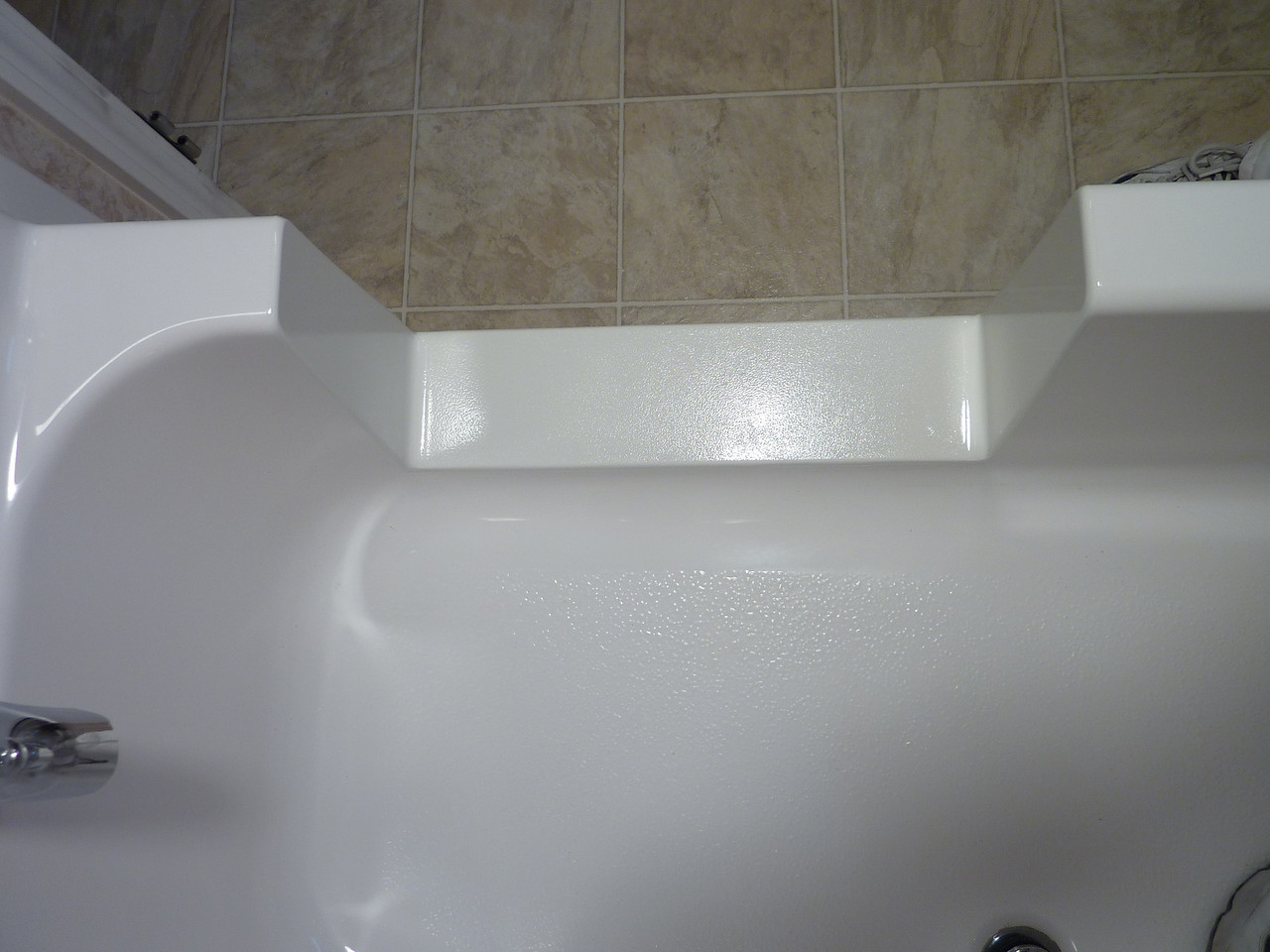 Finished view from inside the tub.