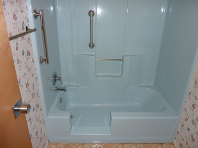 All finished & much safer to take a shower.
