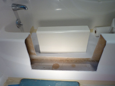 Entryway cut out - well built tub, one of the thickest walls I've seen.