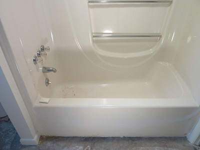 Home being remodeled, new owner could not step over bathtub.