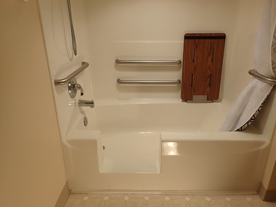 All finished, ready to take a shower tomorrow.  No caulking to worry about.