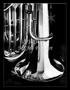 Tuba Art Photograph in Black and White 224.2060
