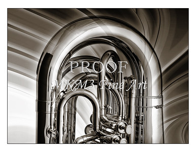 Tuba Art Photograph in Black and White 221.2060