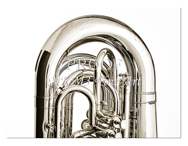 Tuba Art Photograph in Black and White 220.2060