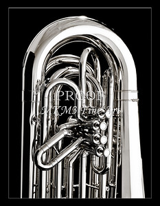 Tuba Art Photograph in Black and White 225.2060