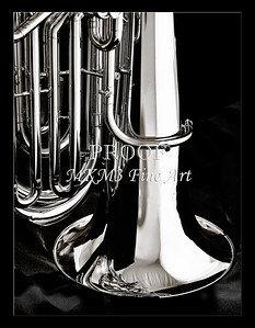 Tuba Art Photograph in Black and White 223.2060