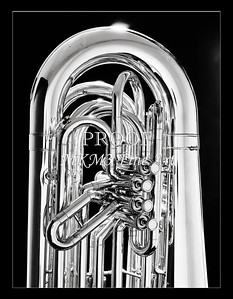 Tuba Art Photograph in Black and White 226.2060