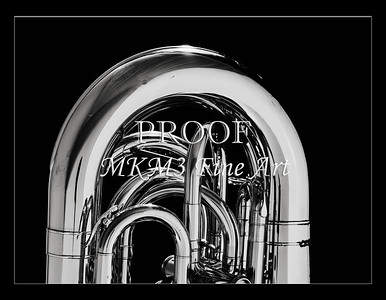 Tuba Art Photograph in Black and White 230.2060