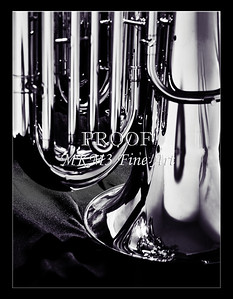 Tuba Art Photograph in Black and White 232.2060