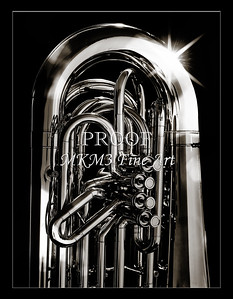 Tuba Art Photograph in Black and White 228.2060