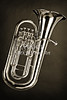 Metal Wall Print Tuba Music Instrument 3280.01
