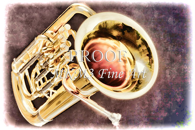 Music Art Painting of a tuba 3282.02