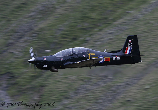 ZF140/'140' (207(R) SQN marks) Tucano T.1 - 28th October 2008.
