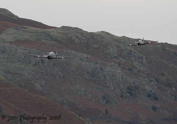 ZF140/'140' (207(R) SQN marks) & ZF294/'294' (207(R) SQN marks) Tucano T.1 x2 - 28th October 2008.