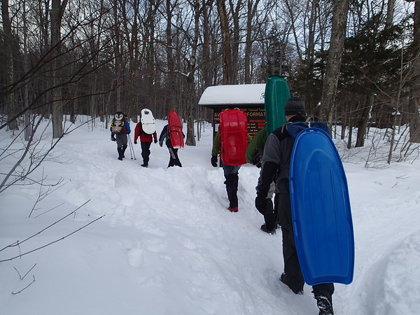 Tuckerman Ravine Hike and Sled
