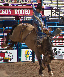 Tucson Rodeo 29 Feb 2011 Good Bronco Rider