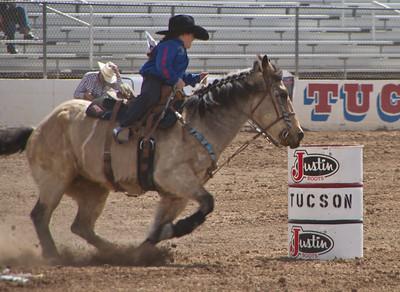 Tucson Rodeo 29 Feb 2011 Junior Barrel Racer