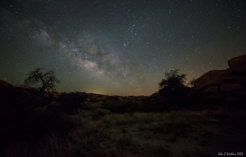 Milky Way Rising Over Lazy J Guest Ranch