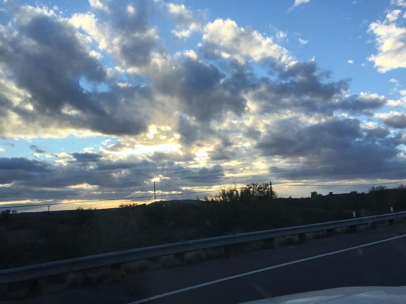 Sunset somewhere in northern Arizona