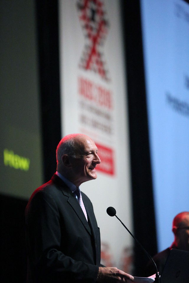 21st International AIDS Conference (AIDS 2016), Durban, South Africa. Tuesday 19th July 2016, VENUE : Durban ICC Session Hall 1 Tuesday Plenary Speaker Justice Edwin Cameron Photo©International AIDS Society/Abhi Indrarajan