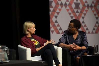 21st International AIDS Conference (AIDS 2016), Durban, South Africa. What a Girl Wants: Sexual and Reproductive Health and Rights, Treatment Access and Gender Equality (TUSS01) Charlize Theron and Graça Machel, Graça Machel Trust, Mozambique, 19 July, 2016. Photo©International AIDS Society/Rogan Ward