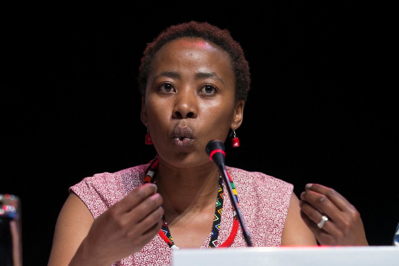 21st International AIDS Conference (AIDS 2016), Durban, South Africa. Turning the Tide for Adolescent Girls and Young Women: How Realizing Gender Equality and Securing Women's Human Rights are Essential for Reaching the End of AIDS (TUSY0603) Vuyiseka Dubula, Sonke Gender Justice, South Africa speaks, 19 July, 2016. Photo©International AIDS Society/Rogan Ward