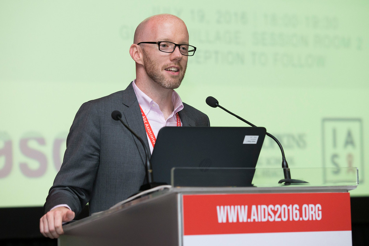 21st International AIDS Conference (AIDS 2016), Durban, South Africa. The Robert Carr Research Award and Lecture (TUCA14) Owen Ryan, 19 July, 2016. Photo©International AIDS Society/Rogan Ward